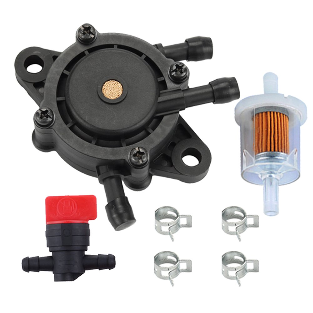 HIPA 49040-7001 Fuel Pump + Fuel Filter Fuel Shut-Off Valve for Kawasaki FH430V FH451V FH500V FH541V FH580V FH680V FH721V FX730V FX801V Engine Lawn Mower