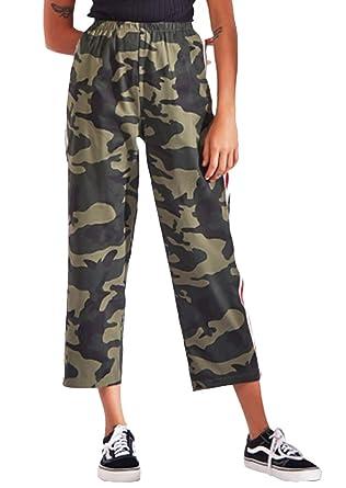 Pantalons Femme Pantalons Jogging Vintage Élégant Camouflage Automne  Printemps Spécial Style Pantalon Sport Fashion Confortables Taille Haute  Pantalon 7 8 ... ce3cc7109b2