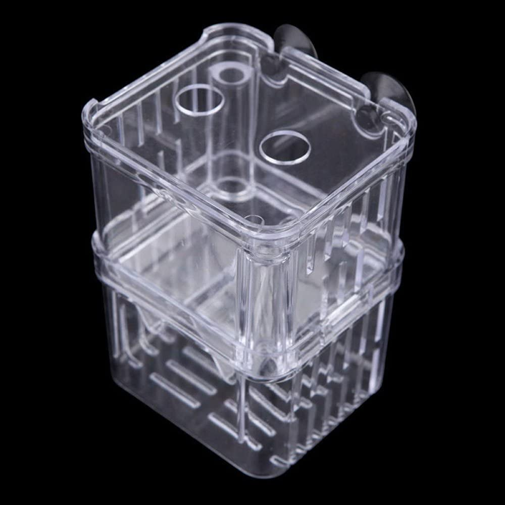 Rely2016 Retangle Shape Double Aquarium Breeding Breeder Box for Hatchery