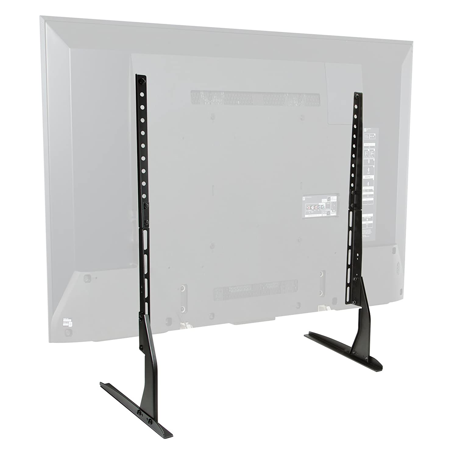 Mount Factory Modern Tabletop TV Stand – Universal Flat Screen Base Replacement for 24 32 40 42 50 55 60 65 Screens