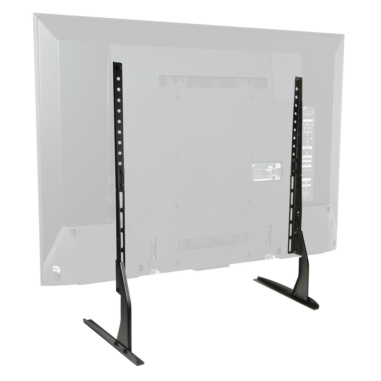 Mount Factory Modern Tabletop TV Stand - Universal Flat Screen Base Replacement for 24'' 32'' 40'' 42'' 50'' 55'' 60'' 65'' Screens