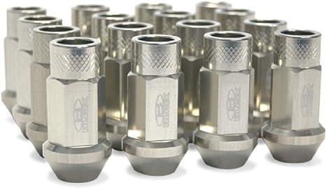 Set of 16 Blox Racing BXAC-00103-SSBK Street Series Black 12 x 1.5mm Thread Size Forged Lug Nut,