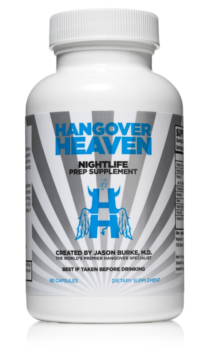 Highest Rated Hangover Prevention Supplement by Hangover Heaven | Formulated by Dr. Jason Burke - World Famous Hangover Specialist | Reduce Migraines, Nausea, Dizziness, Fatigue - 90 Capsules