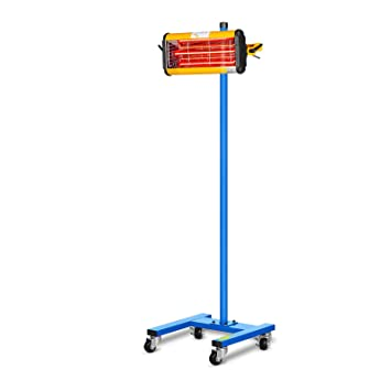 MSW IR-DRYER1000 Secador de Pintura Infrarrojo para Carrocería Coche (1100 W, 1