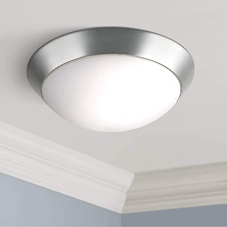 reputable site 11aab 15680 Davis Modern Ceiling Light Flush Mount Fixture Brushed Nickel 13
