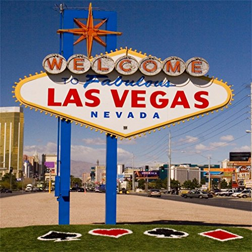 Halloween Events Las Vegas Nevada (CSFOTO 4x4ft Background for Welcome to Fabulous Las Vegas Nevada Road Sign Photography Backdrop Holiday Travel Tourism Resort City Building Street Indicator Photo Studio Props)