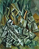 The Perfect Effect Canvas Of Oil Painting 'Pablo Picasso-Still Life With Liqueur Bottle,1909' ,size: 18x23 Inch / 46x58 Cm ,this Cheap But High Quality Art Decorative Art Decorative Canvas Prints Is Fit For Home Office Decoration And Home Artwork And Gifts