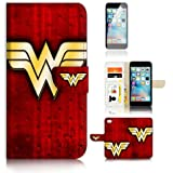 ( For iPhone 7 Plus ) Flip Wallet Case Cover and Screen Protector Bundle A0989 Wonder Woman