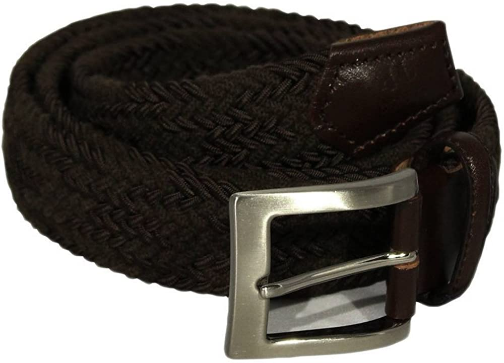 40 Colori Mens Double Threaded Elasticated Belt Brown