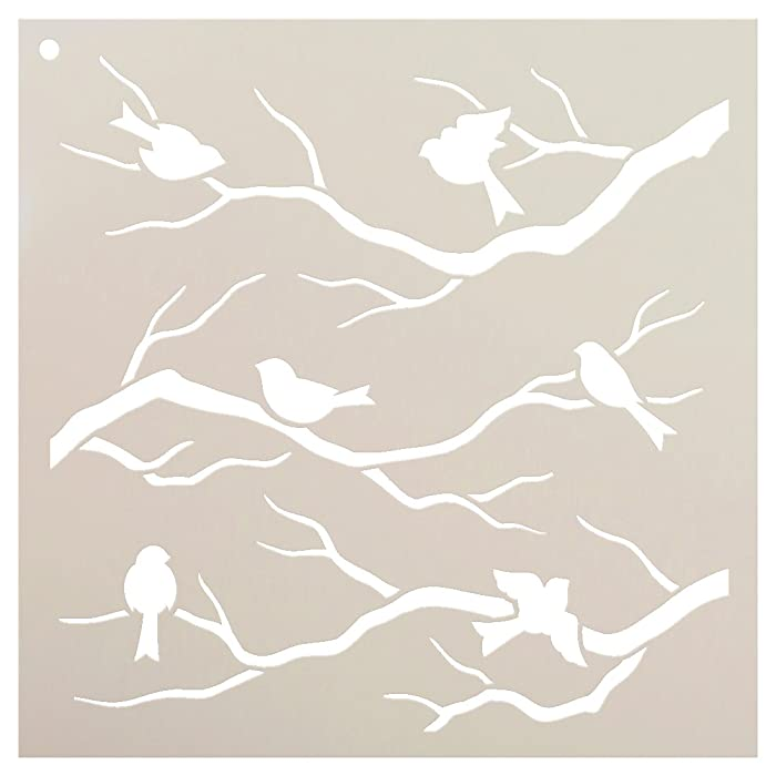 """Birds & Branches Stencil by StudioR12 