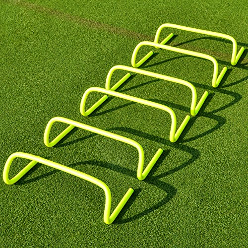 "6"" SPEED HURDLES New & Improved Design for Agility Training [Set of 6] [Net World Sports]"