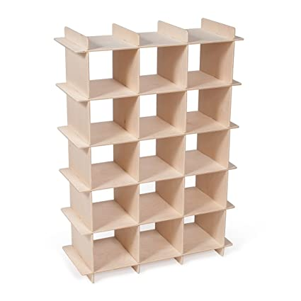 Sprout Modern Wood Shoe Storage Cubby Beige  sc 1 st  Amazon.com & Amazon.com: Sprout Modern Wood Shoe Storage Cubby Beige: Home u0026 Kitchen
