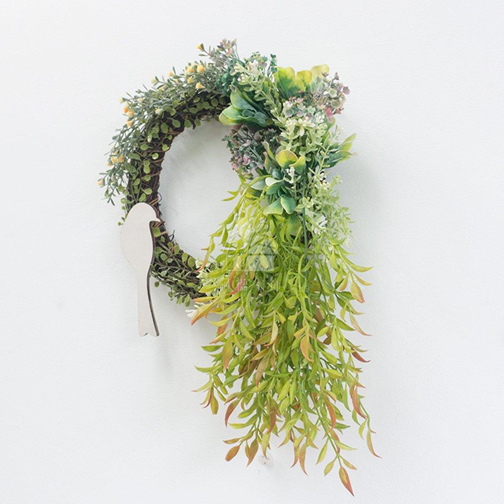Farmhouse Wreath,Rustic Wreath,Artificial Wreath for Wall,Summer Wreath for Front Door