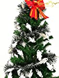 10 Pieces Tinse Garland For Halloween Tree or Door Windows Decoration, Shinny Party Accessory TG004