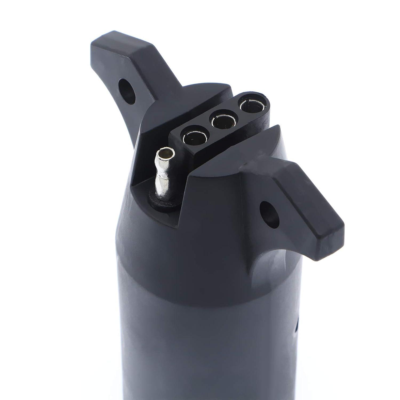 3 pack 7-Way to 4-Way Wiring Adapter Caravan 12V Flat Blade Plug Trailer Light Adapter Plug Converter