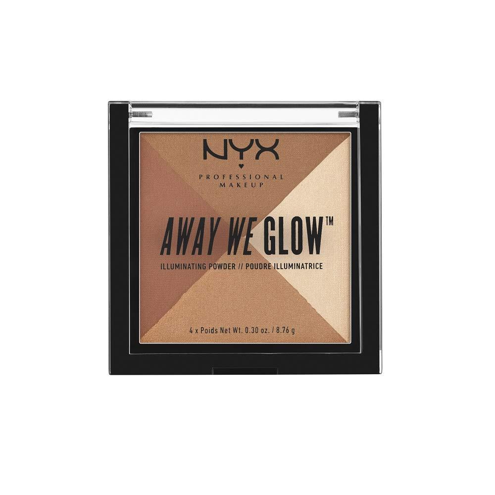 NYX Nyx cosmetics away we glow illuminating powder shimmer thrill