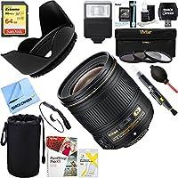 Nikon AF-S NIKKOR 28mm f/1.8G Lens (2203) + 64GB Ultimate Filter & Flash Photography Bundle