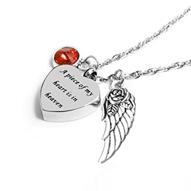 28788c47d05bd IMEIM A Piece of My Heart is in Heaven Urn Necklace for Women Cremation  Jewelry Memorial Necklace for Human Ashes