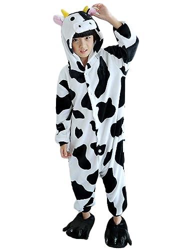 6c2789990 Amazon.com  Fesky Animal Cow Pajamas Onesie Costume Kids One Piece ...