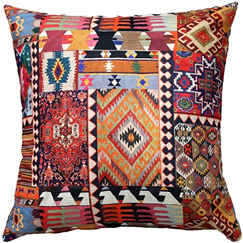Pillow Decor - Kilim Collage Throw Pillow ()