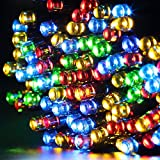 Solar String Lights,Gdealer 72ft 200 LED 8 Modes Solar Powered Waterproof Starry Fairy Outdoor String Lights Christmas Decoration Lights for Patio Gardens Homes Landscape Wedding Party