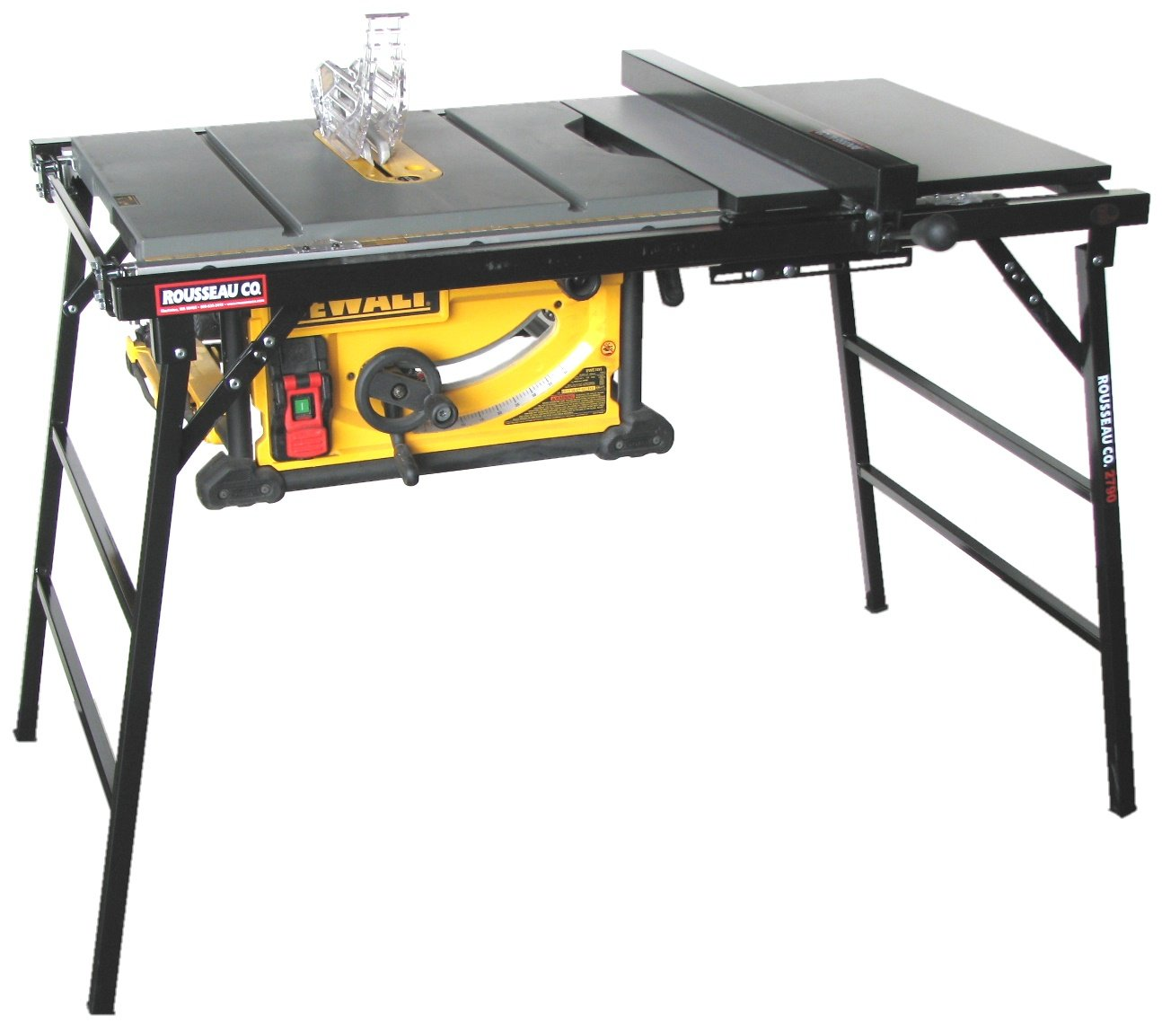 Rousseau 2790 Table Saw Stand for Larger Portable Saws (REPLACES: Rousseau Model 2775) by Rousseau