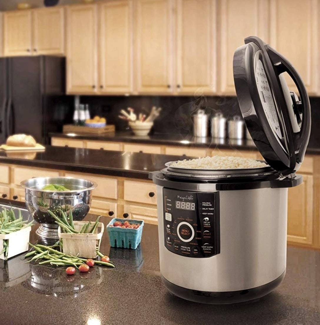 Silver Megachef MCPR-3500 12 Quart Digital Pressure Cooker with 15 Presets