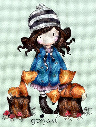 Bothy Threads Gorjuss The Foxes Cross Stitch Kit