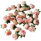 Eyourlife 100x rose teste rosa finta fiori artificiali Rose fiori artificiali Rose matrimoni Party decorazione