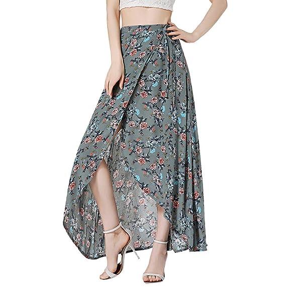 Poachers Falda Larga Mujer Elegante Falda Flamenca Mujer ...