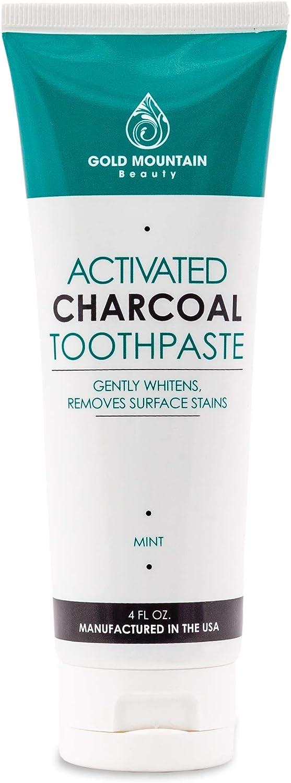 Gold Mountain Beauty dents de charbon actif dentifrice blanchissant noix de coco (1 paquet)