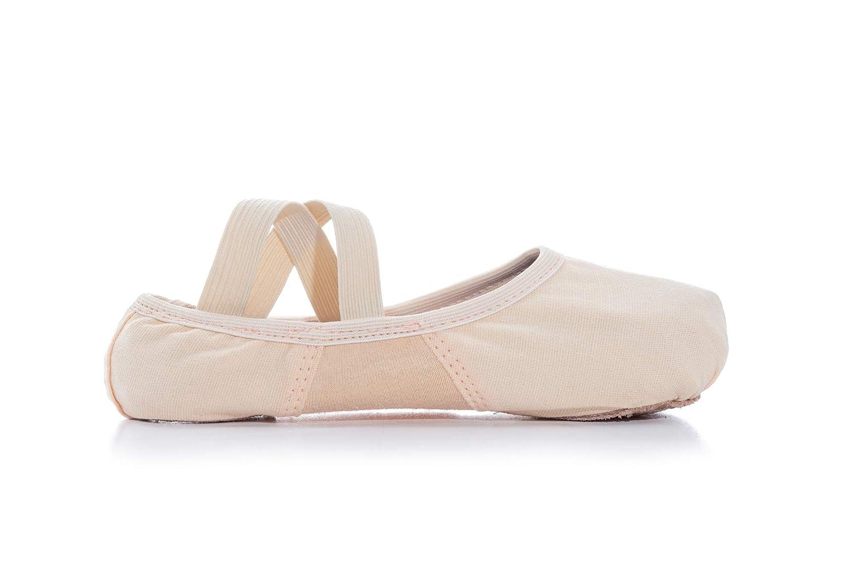 GirlsSofTouch Canvas Stretch Split-Sole Ballet Shoes T2915C