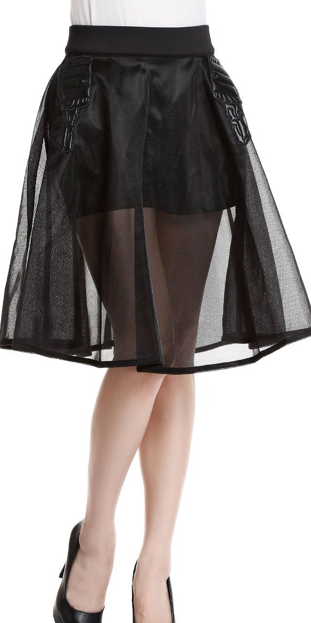 Generic Women's Perspective Pure Skirt XX-Large Black