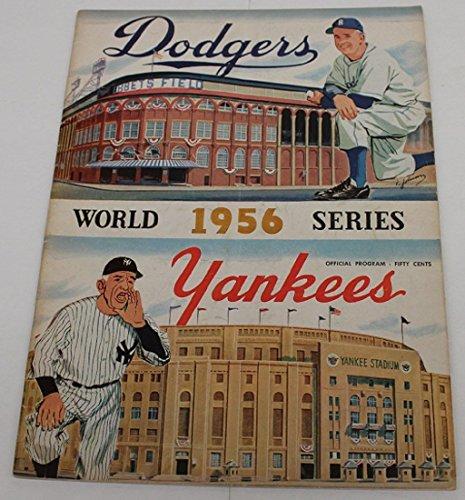 1956 World Series Program New York Yankees @ Brooklyn Dodgers