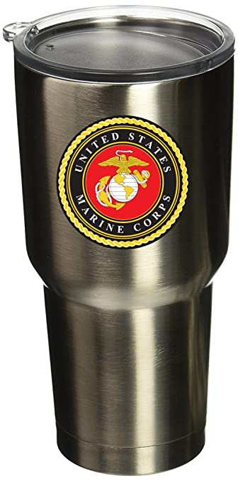 Boldergraphx 6002 Usmc Logo 2 5 Vinyl Sticker Decal For Yeti Mug Cup Rtic Sic Cup Thermos Cup Or Laptop Cell Phone Wrap Or Hardhat