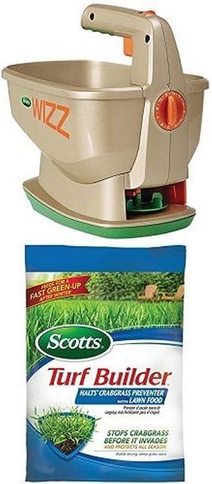 Scotts Halts Crabgrass Preventer + Wizz Hand-Held Spreader