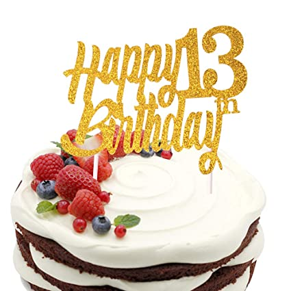 e47b43803ec2 Image Unavailable Not Available For Color Sunny ZX 13 Years Blessed Loved Cake  Topper 13th Birthday
