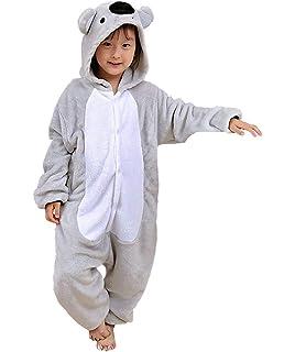 a75a63850a3ac Enfant Pyjama Unisexe Onesie Kigurumi Animaux Koala Gris Cosplay Costume  Combinaison Vetements de Nuit pour Taille