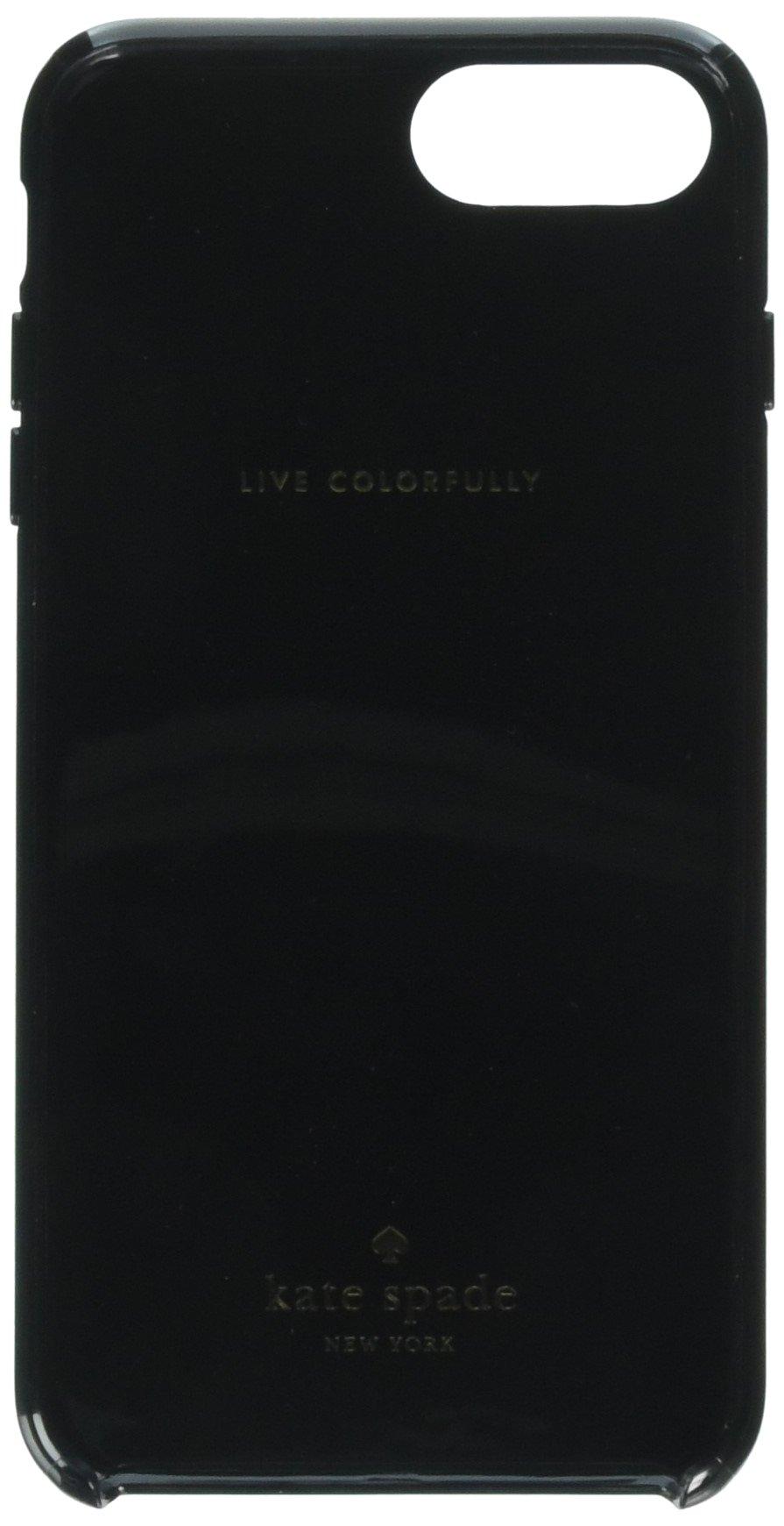 Kate Spade New York Stripe Black White Rose Gold Foil Hardshell Case