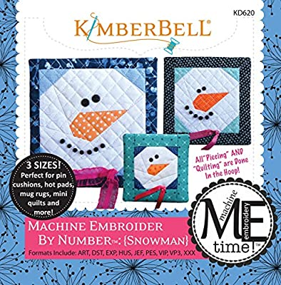 Kimberbell Designs Machine Embroider by Number Snowman with Embroidery CD KD620