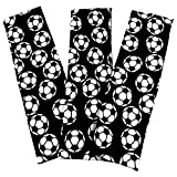 Soccer Stretch Headbands - (3 Pack) for Women, Teens, Kids - 2.25'' Wide, Spandex, Silky Sweatbands For Soccer - Sports - Yoga - Fashion (Black)