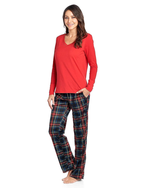 3061f6ab3 Ashford   Brooks Women s Jersey Knit Long-Sleeve Top and Mink Fleece ...