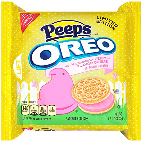 Oreo Peeps Sandwich Cookies, Limited Edition, 10.7 Ounce (Pack of 12) by Oreo