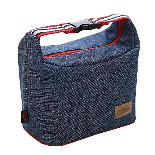 Denim Bag Toy (Insulated Denim Cowboy Lunch Bag - Reusable Cowboys Gift Treat Travel Lunch Tote Cooler Bag for Men/Women/Baby,Hot Stylish Durable Washable Square Bento Box Organizer Bag for Children/Toddler)