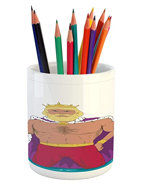 Amazoncom Ambesonne Neptune Pencil Pen Holder Detailed