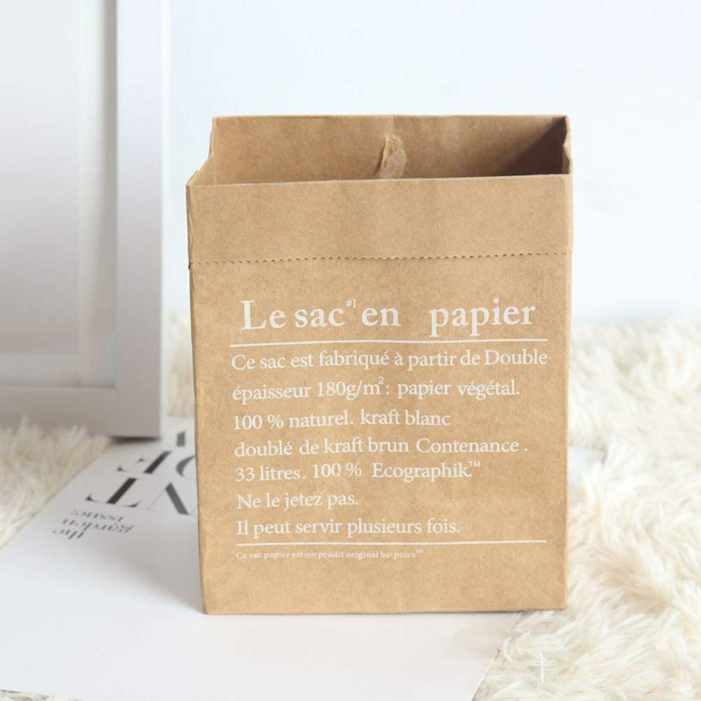 Rameng Sac de Rangement en Papier Kraft Rangement Panier de Fleur Emballage Cadeaux Bonbons (A) Rameng