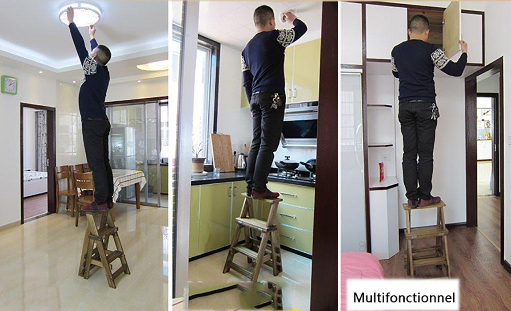 Color : A WYDM Escalera para Taburete de Interior Silla de Comedor Silla de Madera Maciza Multifunci/ón Ascend Taburete de Bar