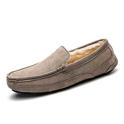 Xiaojuan-shoes, Conducción de los Hombres Mocasines Penny Trabajo Hecho a Mano Sutura Gamuza