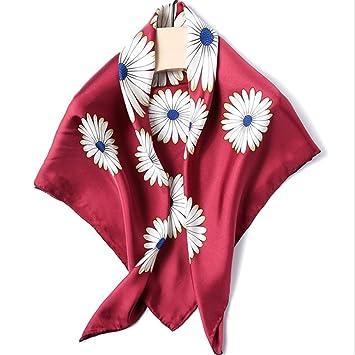 Suave Toalla De Seda para Mujeres Plaza De Flores Rojas Toalla De Playa Primavera Verano Mantener Caliente (Color : Rojo): Amazon.es: Hogar