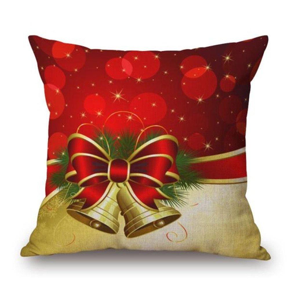 Drucken Gluckliy Weihnachtskissen Weihnachtsmuster Weiche Pl/üsch Wurf Sofa Kissen Auto Kissenbezug